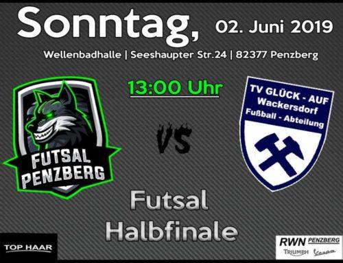 Futsal Pokalhalbfinale am Sonntag 2.6. um 13 Uhr