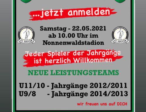 Talentsichtungstag des 1. FC Penzberg am Samstag 22. Mai im Nonnenwaldstadion