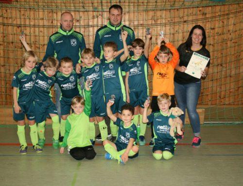 Turniersieg der F2-Jugend bei Hallenturnier des 1. FC Penzberg