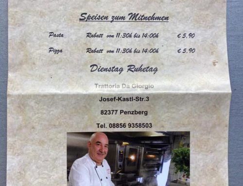 Bon Appetito: Unser neuer Wirt Giorgio kocht täglich leckeres italienisches Essen zum Abholen