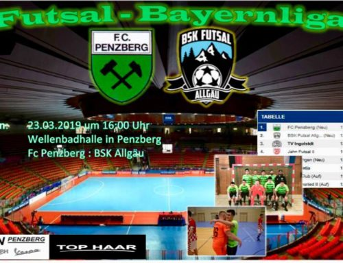 Entscheidendes Spiel um Meisterschaft Bayernliga-Futsal am 23.03.