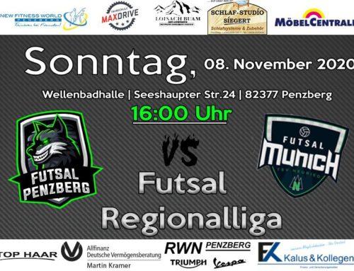 Futsal Heimspiel Gegen Munich Futsal am 8.11.