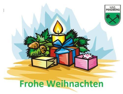 Der 1.FC Penzberg wünscht frohe und besinnliche Weihnachten!